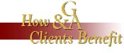 How G&A Clients Benefit